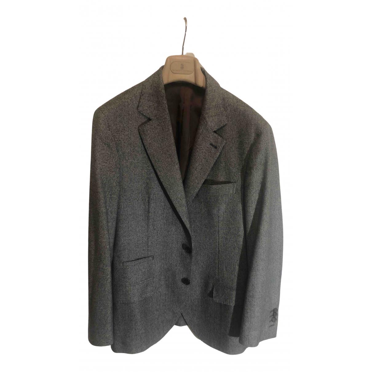Brunello Cucinelli - Vestes.Blousons   pour homme en laine - gris