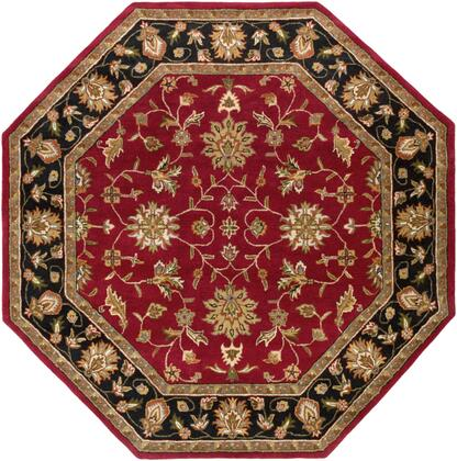 Crowne CRN-6013 8' Octagon Traditional Rug in