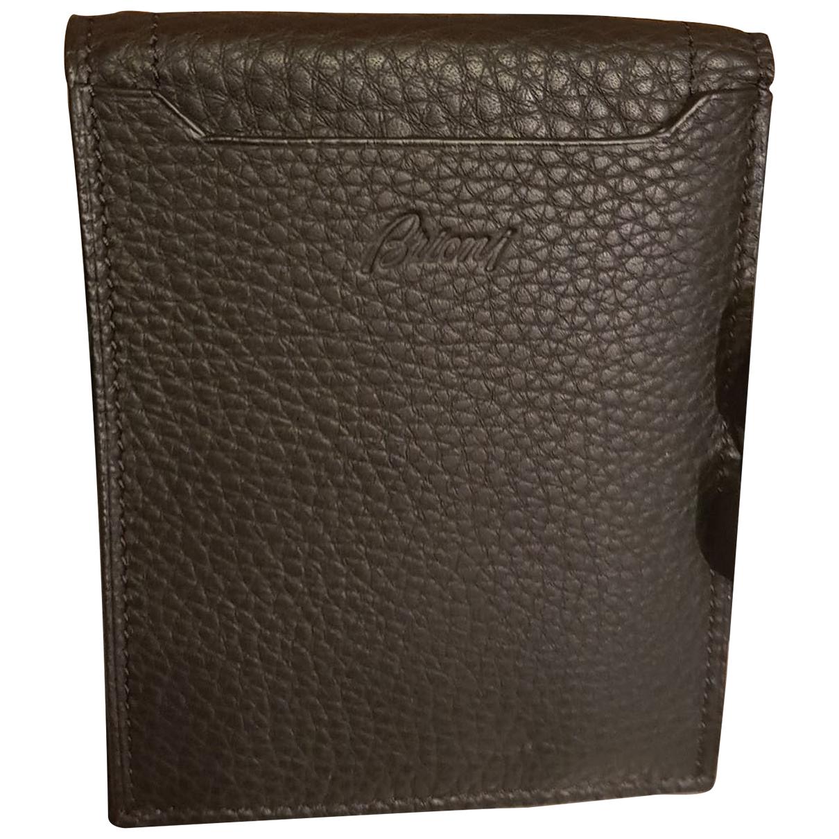 Brioni - Petite maroquinerie   pour homme en cuir - noir
