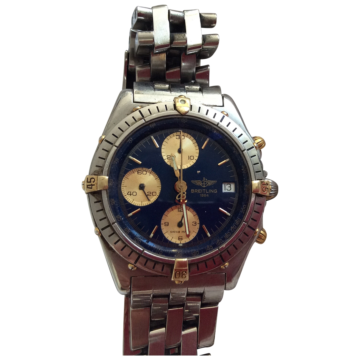 Breitling Chronomat Blue gold and steel watch for Men \N