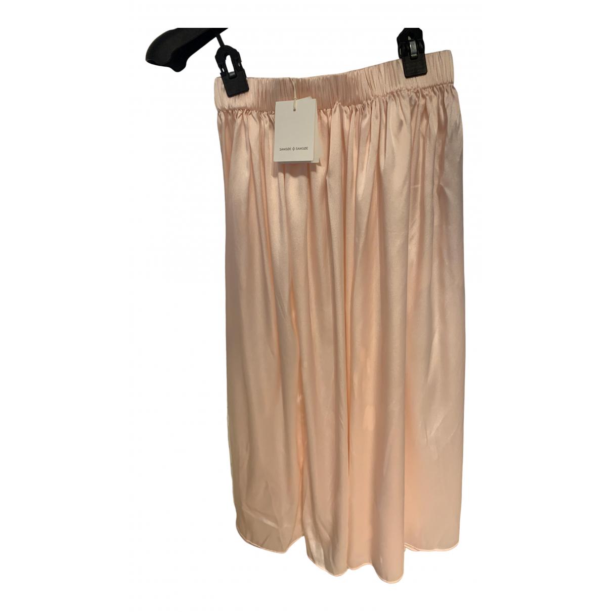 Samsoe & Samsoe N Pink Silk skirt for Women XS International