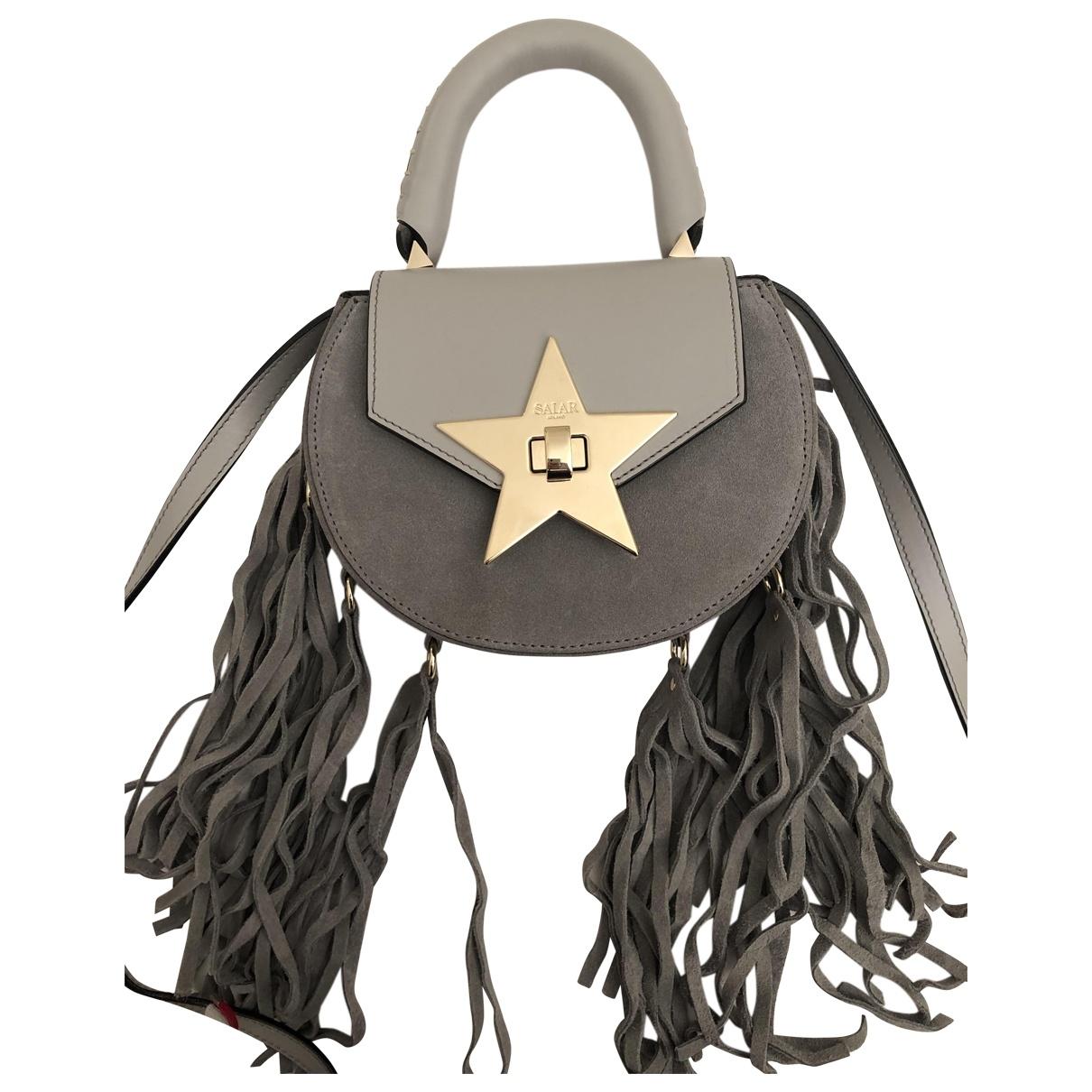 Salar \N Grey Suede handbag for Women \N