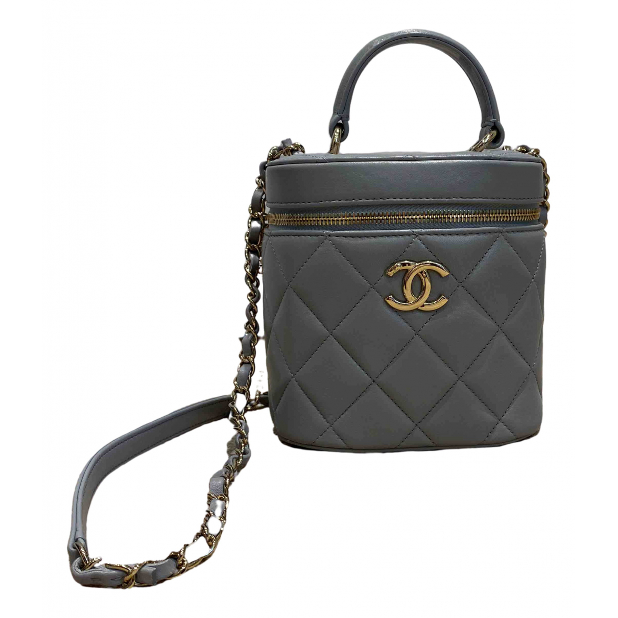 Chanel Vanity Grey Leather handbag for Women \N