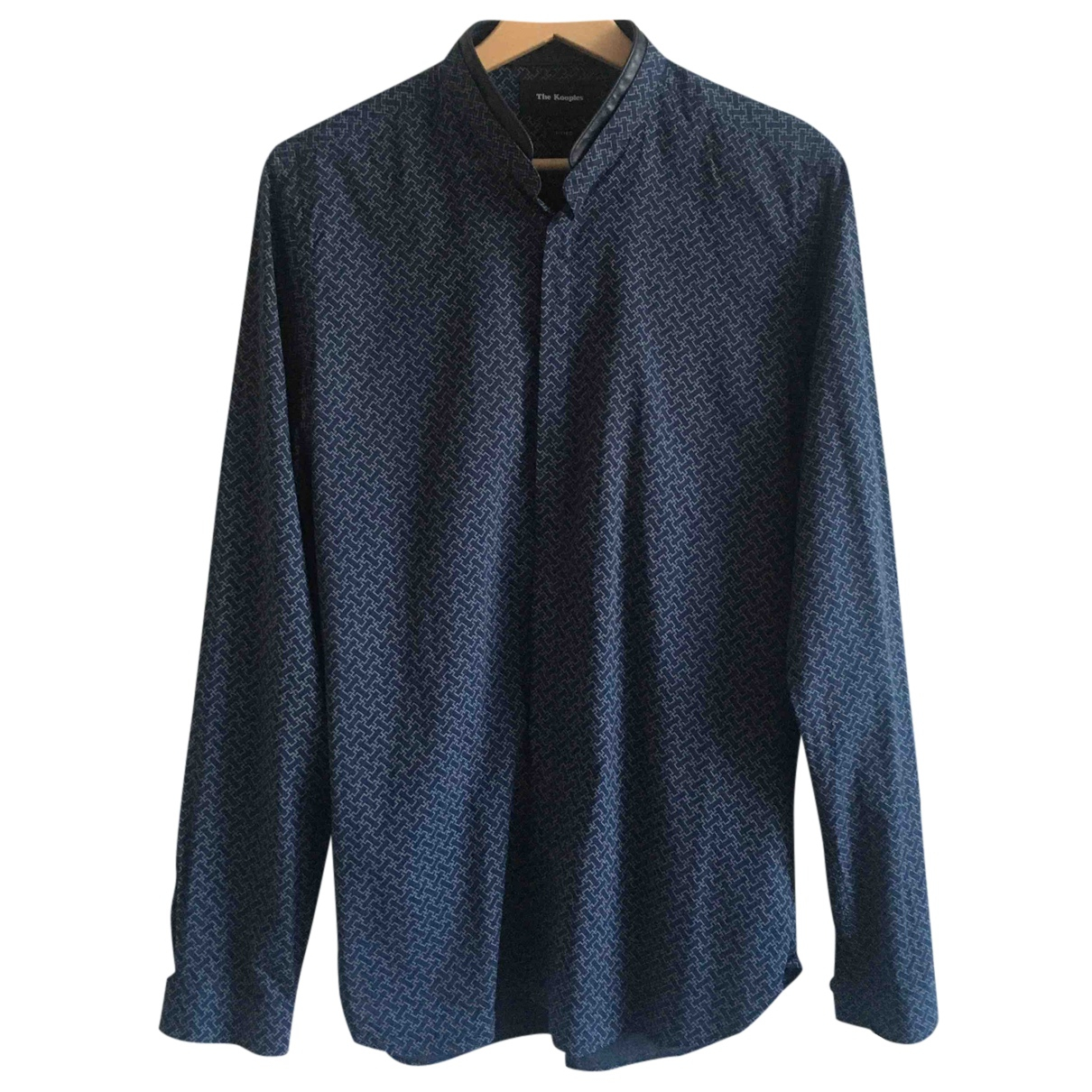 The Kooples N Navy Cotton Shirts for Men S International