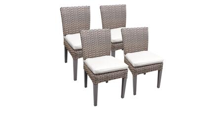 Florence Collection FLORENCE-TKC290b-ADC-2x-C-WHITE 4 Side Chairs - Grey and Sail White