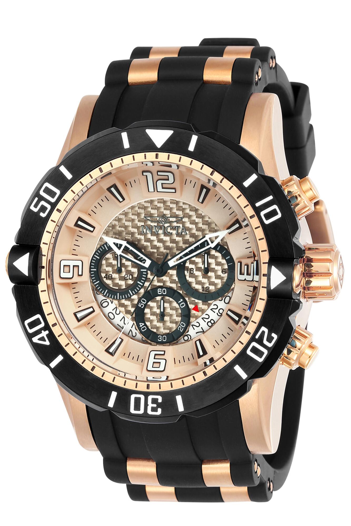 Invicta Men's Pro Diver INV-23711 Black Silicone Quartz Diving Watch