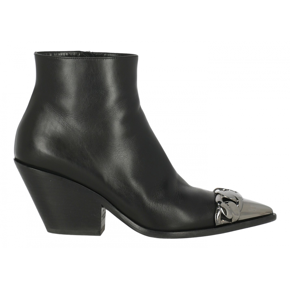 Casadei N Black Leather Ankle boots for Women 38 IT