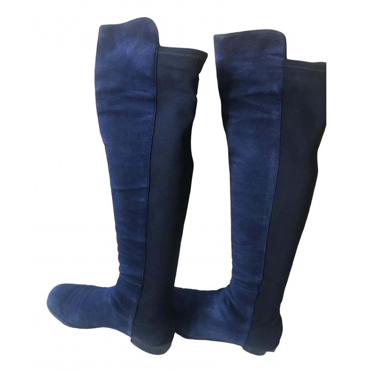 Stuart Weitzman \N Blue Leather Boots for Women 6.5 US