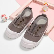 Toddler Boys Slip On Canvas Shoes