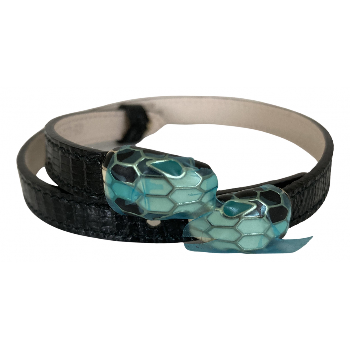 Bvlgari - Bracelet Serpenti pour femme en cuir exotique - noir