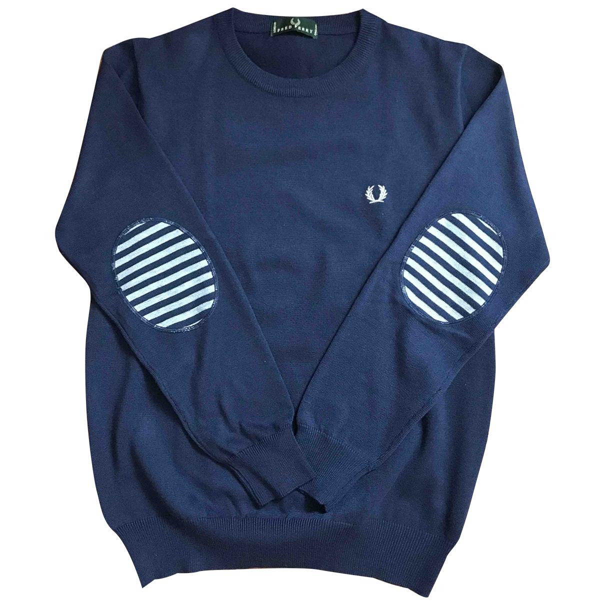 Fred Perry \N Pullover.Westen.Sweatshirts  in  Blau Baumwolle