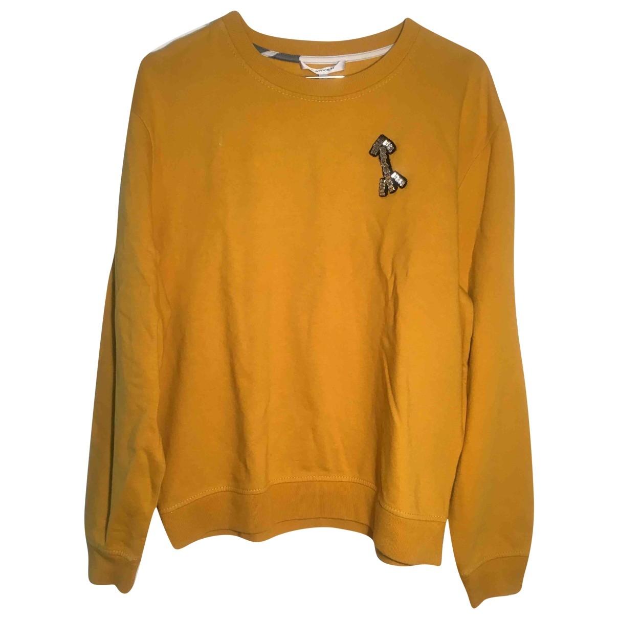 Carven \N Pullover.Westen.Sweatshirts  in  Gelb Baumwolle