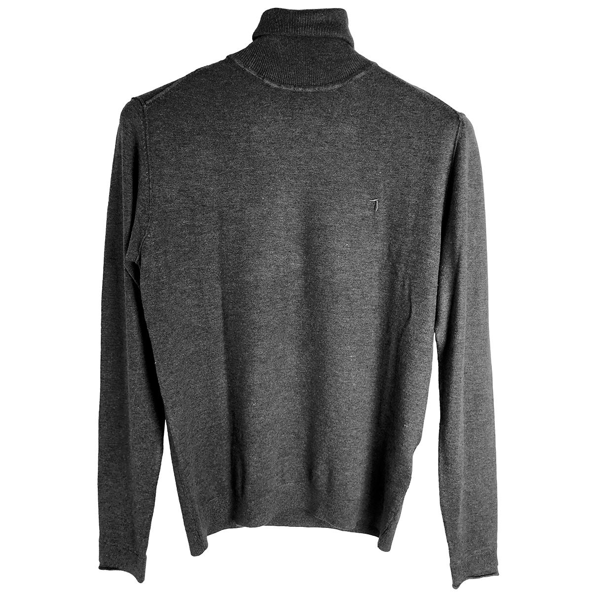Trussardi \N Pullover.Westen.Sweatshirts  in  Grau Wolle