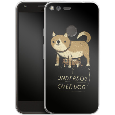 Google Pixel Silikon Handyhuelle - Underdog Overdog von Louis Ros