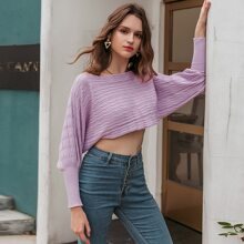 Batwing Sleeve Crop Sweater