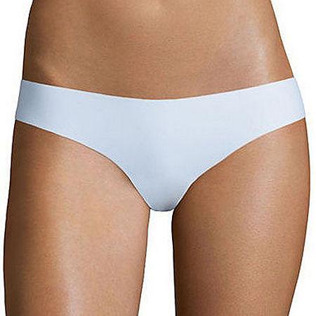 Flirtitude No Show Thong Panties, X-large , White