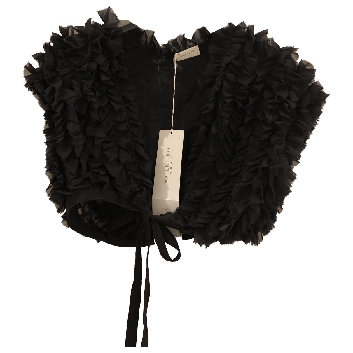 Valentino Garavani - Veste   pour femme en soie - noir