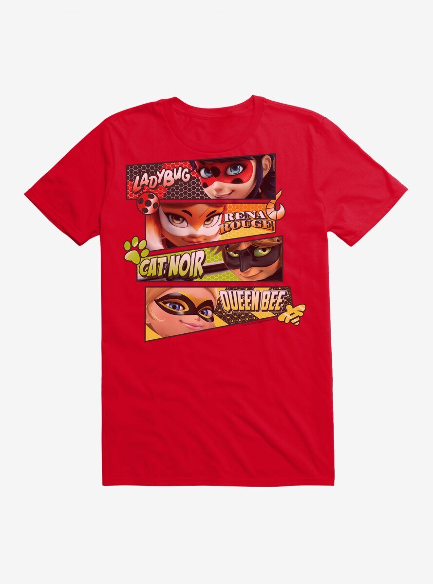Miraculous: Tales Of Ladybug And Cat Noir Group T-Shirt