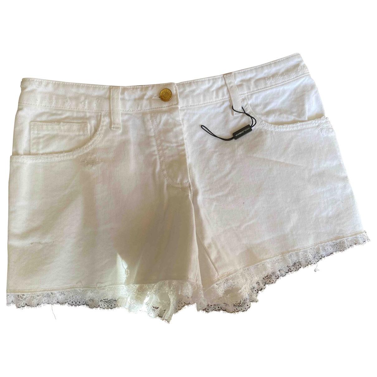 Dolce & Gabbana \N White Denim - Jeans Shorts for Women 40 FR