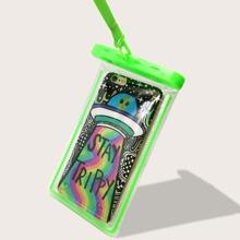 Wasserdichte Tasche mit Karikatur Grafik und Tragegurt