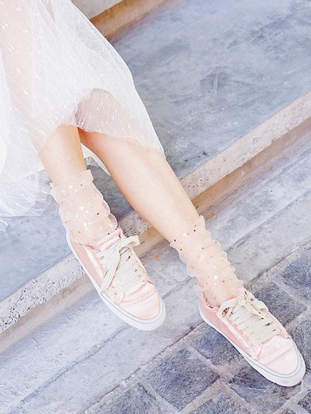 Milanoo Sweet Lolita Socks Stars Print Lolita Accessories Calcetines sueltos