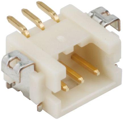 Hirose , DF13, 3 Way, 1 Row, Right Angle PCB Header (5)