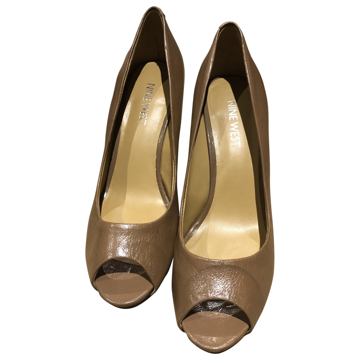 Nine West \N Camel Leather Heels for Women 35.5 EU