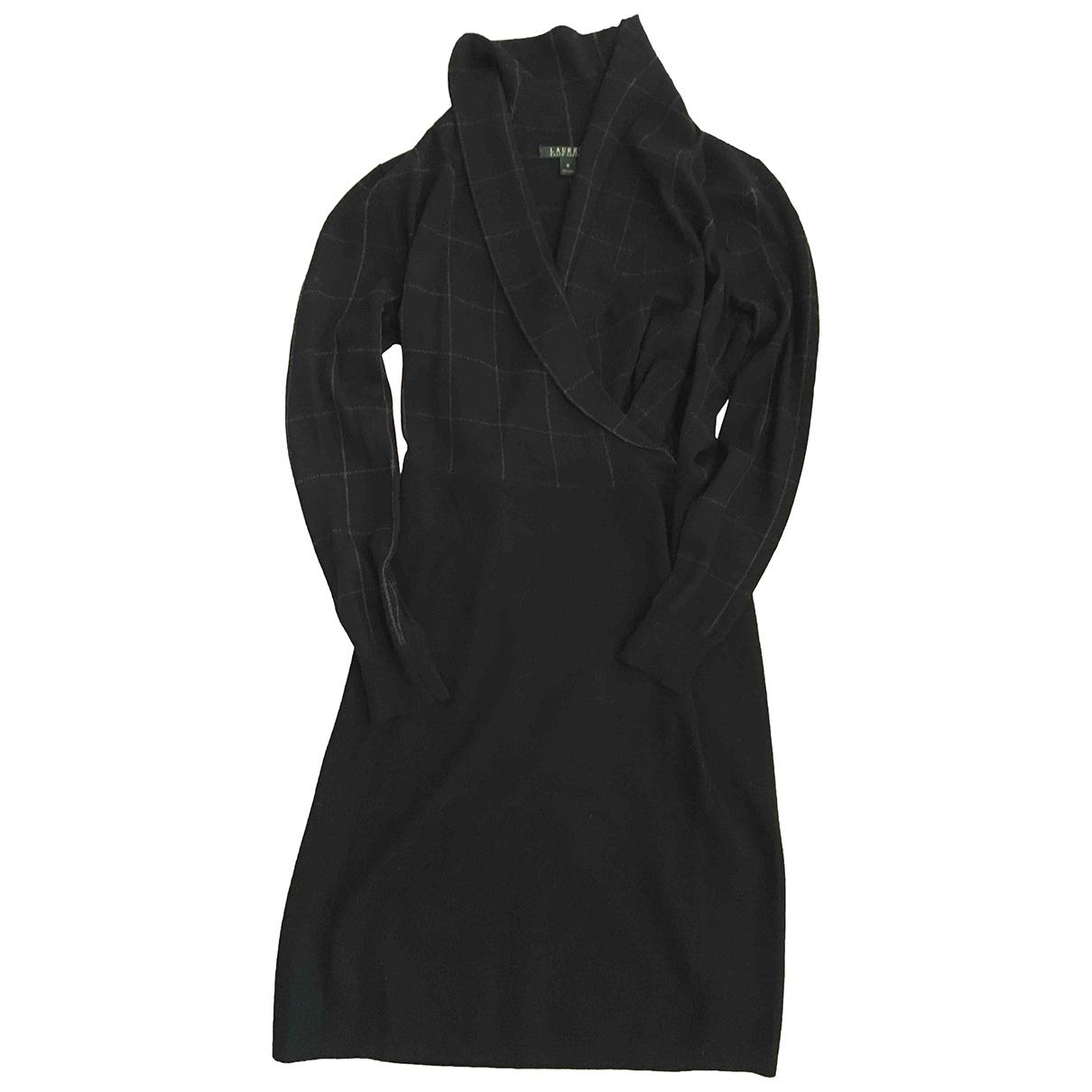 Lauren Ralph Lauren - Robe   pour femme en laine - noir