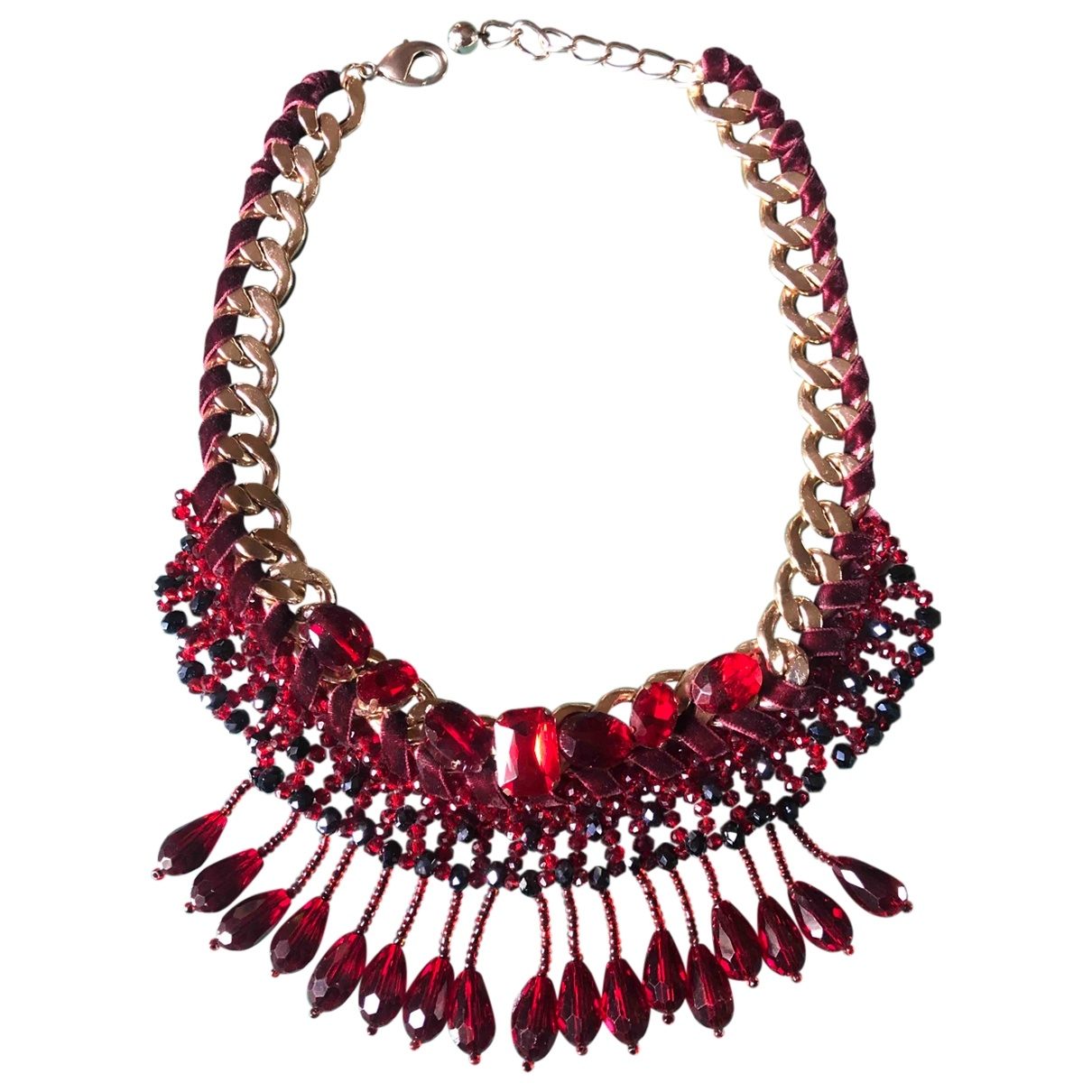 Non Signé / Unsigned Chaînes Red Metal necklace for Women \N