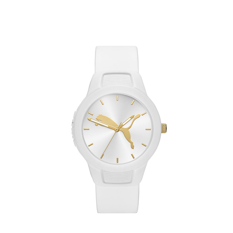 Puma Womens Reset P1013 White Polyurethane Quartz Fashion Watch