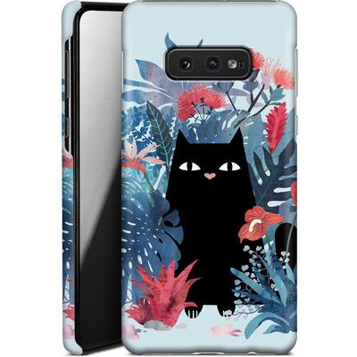 Samsung Galaxy S10e Smartphone Huelle - Popoki Blue von Little Clyde