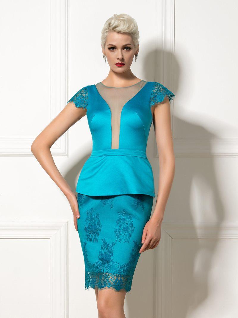 Ericdress Cap Sleeve Peplum Short Cocktail Dress