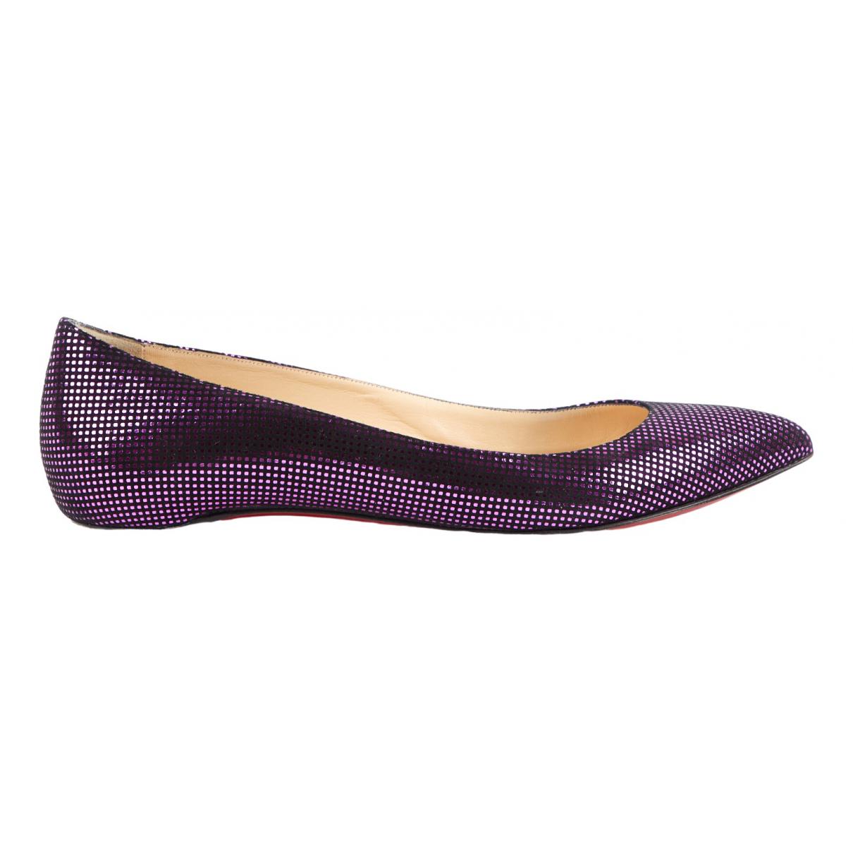 Christian Louboutin \N Purple Suede Ballet flats for Women 38.5 EU