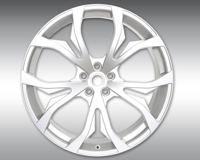 Novitec M4 003 01 NM1 Front 22x9 Silver Wheel Maserati Quattroporte 13-17