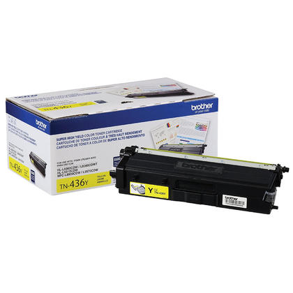 Brother TN436Y Original Yellow Toner Cartridge Extra High Yield 6500 Pages