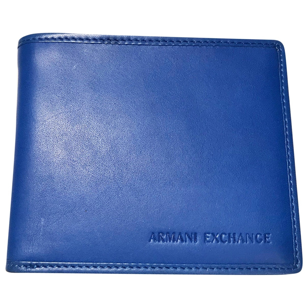 Emporio Armani \N Blue Leather Small bag, wallet & cases for Men \N