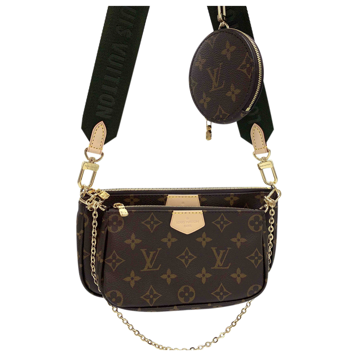 Louis Vuitton Multi Pochette Access Brown Cloth handbag for Women N