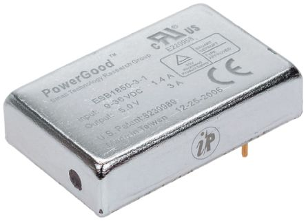 Ideal Power ESB 20W Isolated DC-DC Converter Through Hole, Voltage in 9 → 36 V dc, Voltage out 5V dc