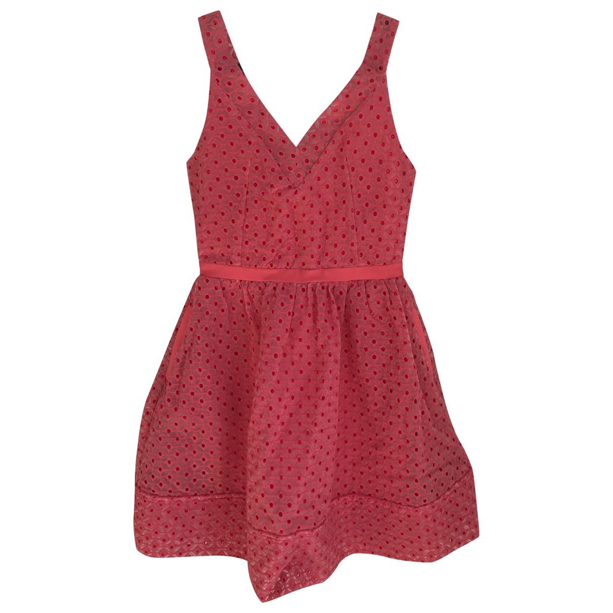 Maje \N Kleid in  Rosa Baumwolle