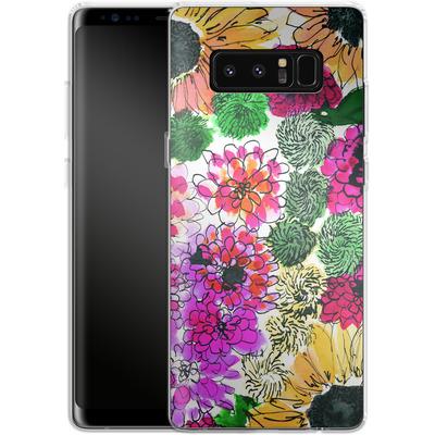Samsung Galaxy Note 8 Silikon Handyhuelle - Fiore Sunshine von Amy Sia