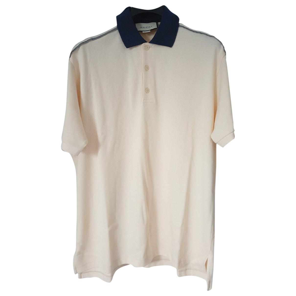 Gucci - Polos   pour homme en coton - beige