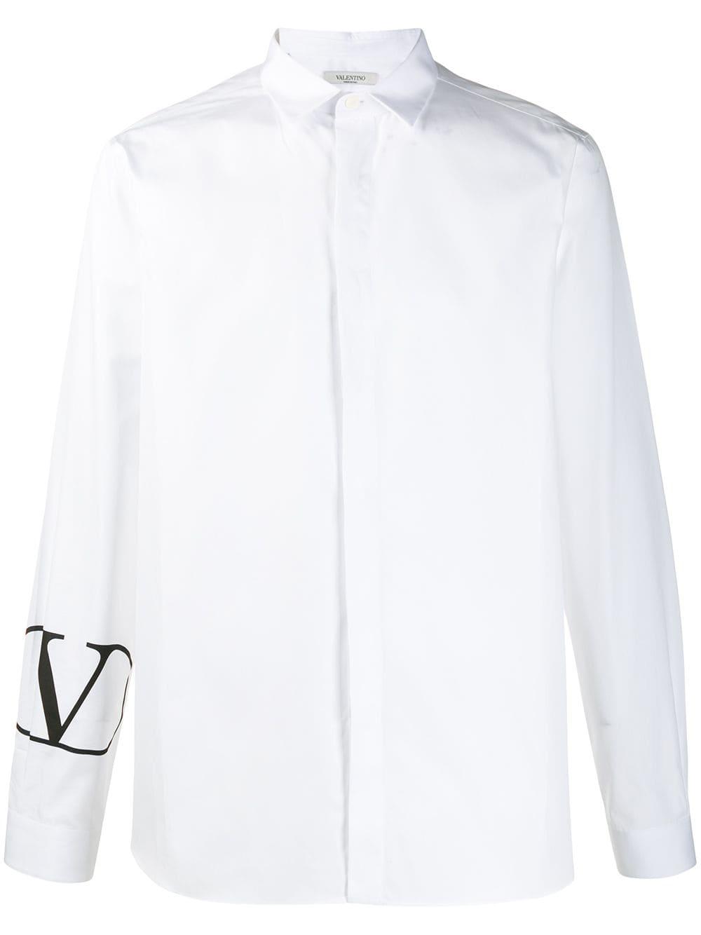 Camicia Con Polsino Logato
