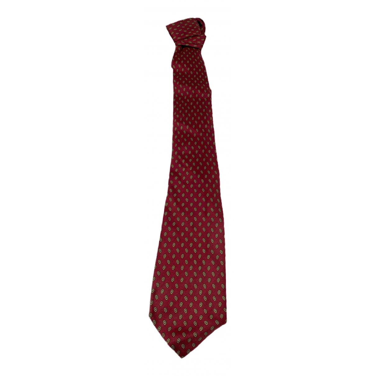 Paco Rabanne - Cravates   pour homme en soie - rouge