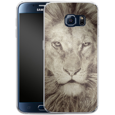Samsung Galaxy S6 Silikon Handyhuelle - Leo Lion von Eric Fan