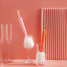 1 Stueck zufaellige Tassenreinigungsschwamm mit Karotte Design
