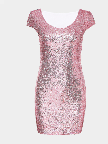 Yoins Packet Buttock Party Dress With Sequin