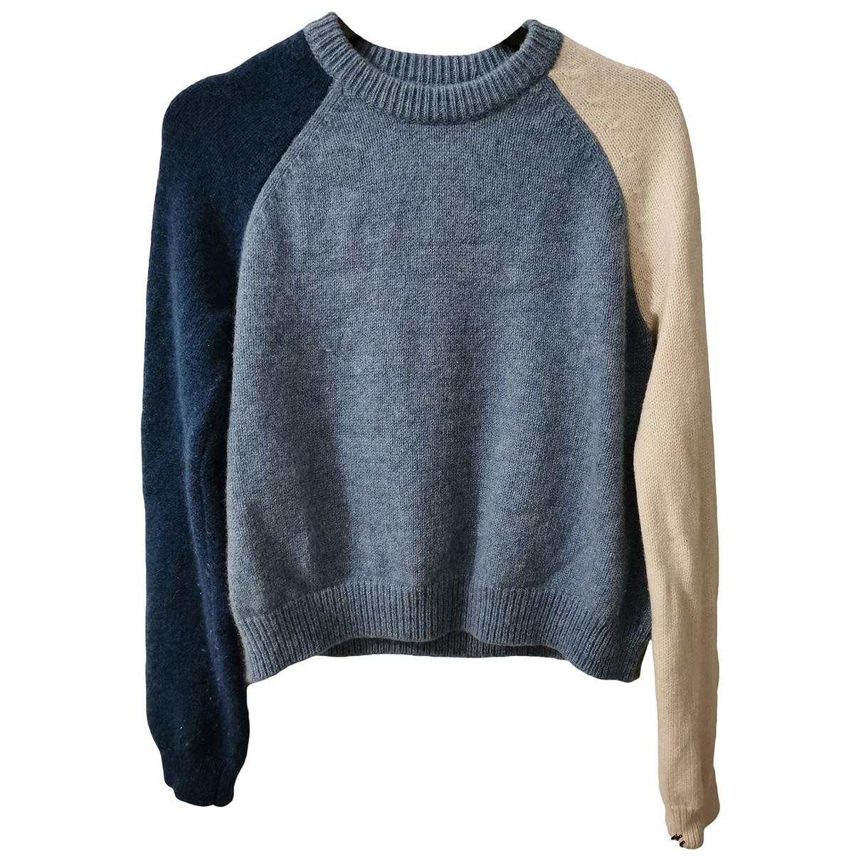 Derek Lam - Pull   pour femme en laine - bleu