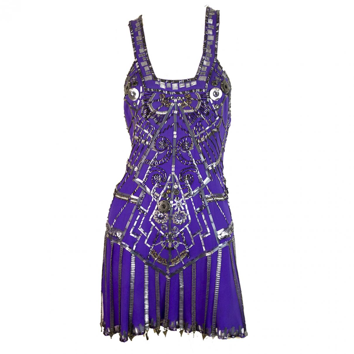 Jenny Packham - Robe   pour femme en soie - violet