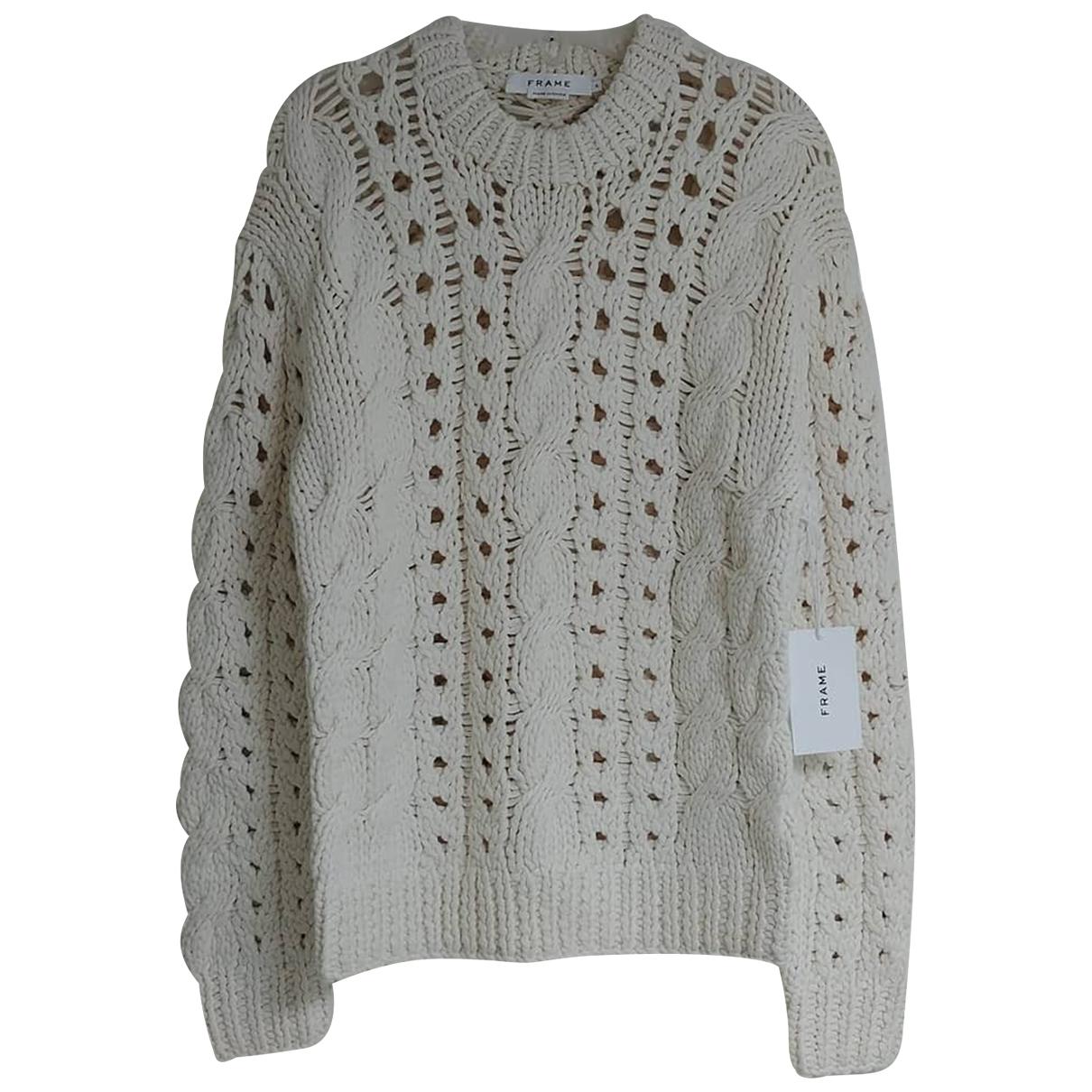 Frame Denim - Pull   pour femme en coton - blanc