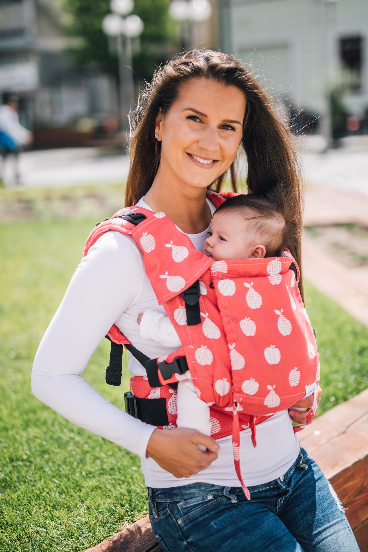 Babytrage Be Lenka Mini - Obst - Rot Klassiker ohne die Moglichkeit der Uberquerung